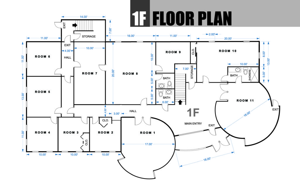 FLOOR PLAN BUILDING 1F (final)